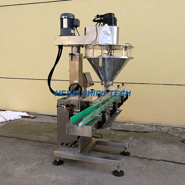 Automatic Xylitol Powder Filling Machine (By Weighing) Model SP-L1W-S China Manufacturer