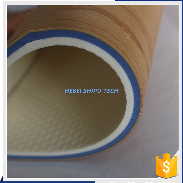 Wood Like Indoor Basketball/badminton Floor PVC Sports Flooring