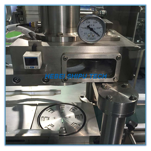 Automatic Nitrogen Flushing Milk Powder Vacuum Can Seaming Machine Vacuum Can Seamer 2-heads China Manufacturer