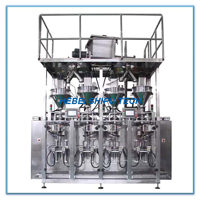 Roll Film Auger Multi Lane Sachet Packing Machine Powder Packaging Granule Packing Machine China Manufacture